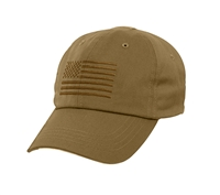 Rothco Coyote Tactical Operator Cap with US Flag 4639