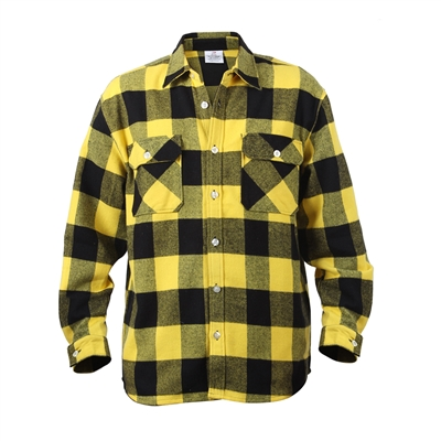 Rothco Yellow Plaid Flannel Shirt - 4649