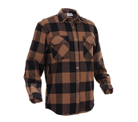 Rothco Brown Plaid Flannel Shirt - 4667