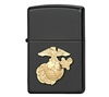 Zippo Black Marines Military Crest Lighter - 218MAR