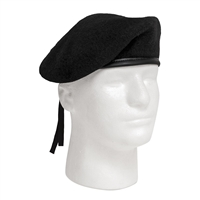 Rothco Black Wool Beret - 4907