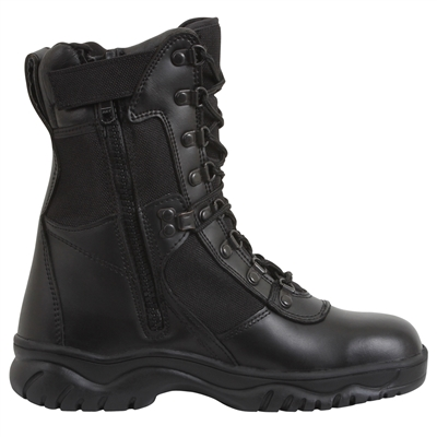 Rothco Black 8-Inch Forced Entry Side Zip Tactical Boots