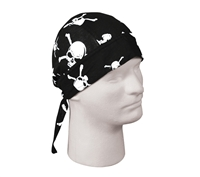 Rothco Black Skull & Crossbones Headwrap - 5134