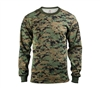 Rothco Digital Woodland Camo Long Sleeve T-Shirt - 5494