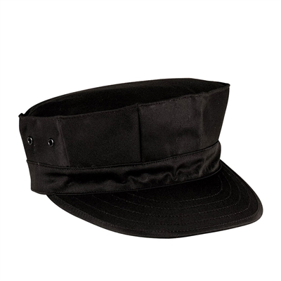 Rothco Black 8 Point Cap - 5632