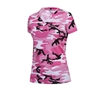 Rothco Women Pink Camo V-Neck T-Shirt 5654