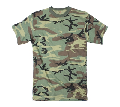 Rothco Woodland Camo Long Length T-shirt - 5666