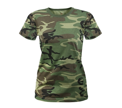 Rothco Womens Woodland Camo Longer T-shirt - 5678