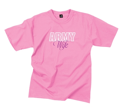 Rothco Army Wife Pink T-Shirt - 5693
