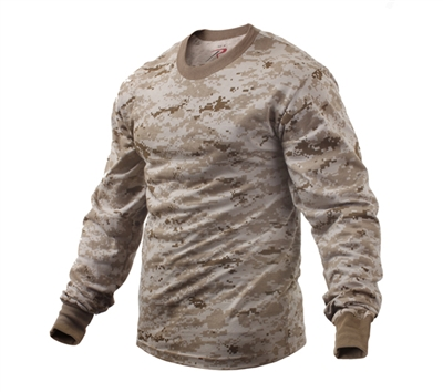 Rothco Desert Digital Camo Long Sleeve T-shirt - 5742