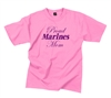 Rothco Proud Marines Mom Pink T-shirt - 5790