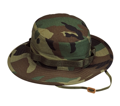 Rothco Woodland Camo Rip Stop Boonie Hat - 5817