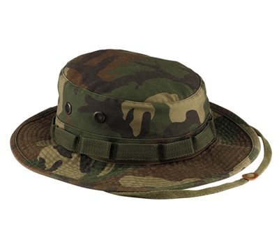Rothco Woodland Camo Vintage Boonie Hat - 5900