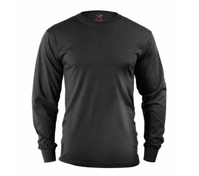 Rothco Black Long Sleeve T-shirt - 60212