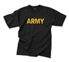 Rothco Black Army Pt T-Shirt - 60363