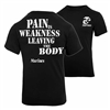 Rothco Black Marines Pain is Weakness T-Shirt - 60417