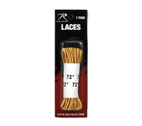 Rothco Brown Yellow 72 Inch Boot Laces - 6158
