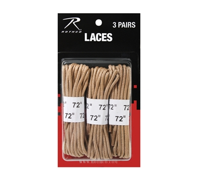 Rothco Desert Tan 3 Pack Boot Laces - 61914