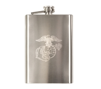 Rothco Stainless Steel Marines Engraved Flask - 631