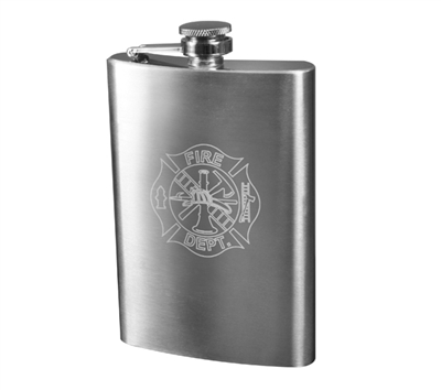Rothco Stainless Steel Fire Dept Engraved Flask - 632