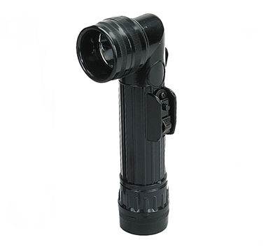 Rothco Black Angle Head Flashlight - 639