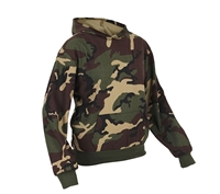 Rothco Kids Woodland Camo Hooded Sweatshirt - 6490