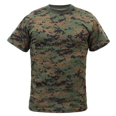 Rothco Digital Woodland Camo T-shirt - 6494