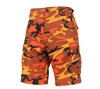 Rothco Savage Orange Camo BDU Shorts - 65004