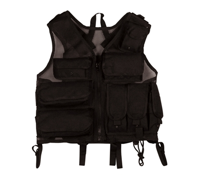 Rothco Black Tactical S.W.A.T. Vest - 6582