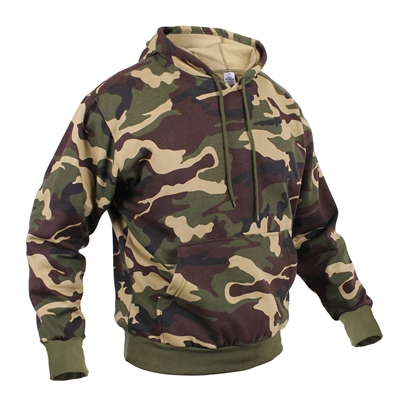 Rothco Woodland Camo Hooded Pullover Sweatshirt - 6590