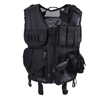 Rothco Black Quick Draw Tactical Vest - 6594