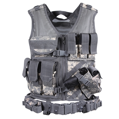 Rothco Digital Camo Cross Draw Tactical Vest - 6598