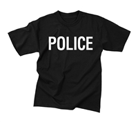 Rothco Black Police 2-Sided T-Shirt - 6612