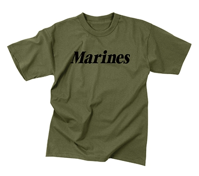Rothco Kids Olive Drab Marines T-Shirt - 66157