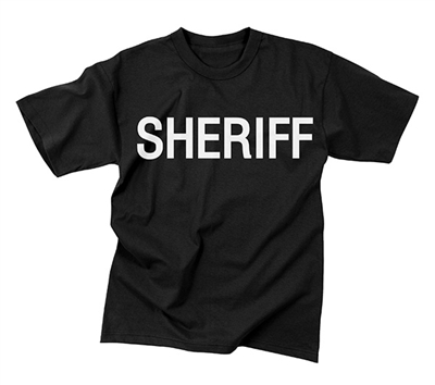 Rothco Black SHERIFF T-Shirt - 6618