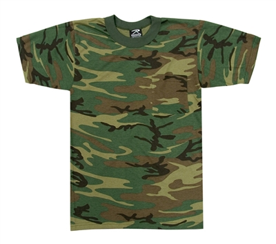 Rothco Woodland Camo With Pocket T-Shirt - 6667