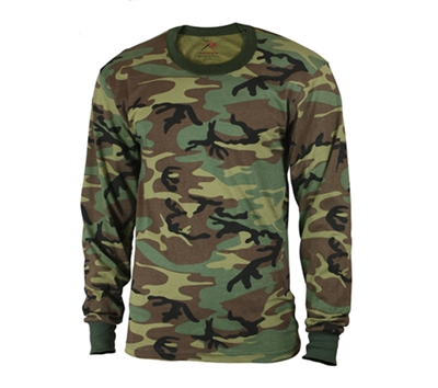 Rothco Kids Woodland Camo Long Sleeve T-Shirt - 6705