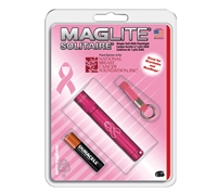 Maglite Pink Solitaire Flash Light - K3AMW6