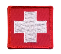 Rothco Red White Cross Patch - 72205