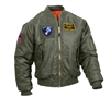 Rothco Sage Green MA-1 Flight Jacket with Patches 7240