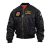 Rothco Black MA-1 Flight Jacket with Patches 7250