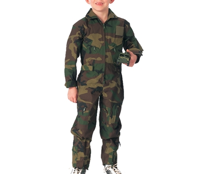 Rothco Kids Woodland Camo Flight Coveralls - 7308