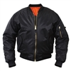 Rothco Kids Black MA-1 Flight Jacket - 7311