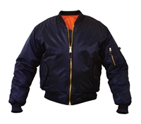 Rothco Navy Blue MA-1 Flight Jacket - 7325
