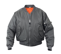 Rothco Gun Metal Grey Ma-1 Flight Jacket - 7350