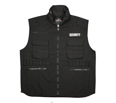 Rothco Black Security Ranger Vest - 7457