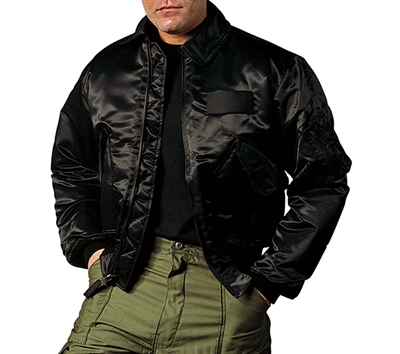 Rothco Black Flight Jacket - 7522