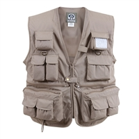 Rothco Khaki Travel Vest - 7546