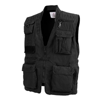 Rothco Black Safari Vest - 7575