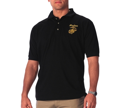 Rothco Black Marine Embroidered Shirt - 7696